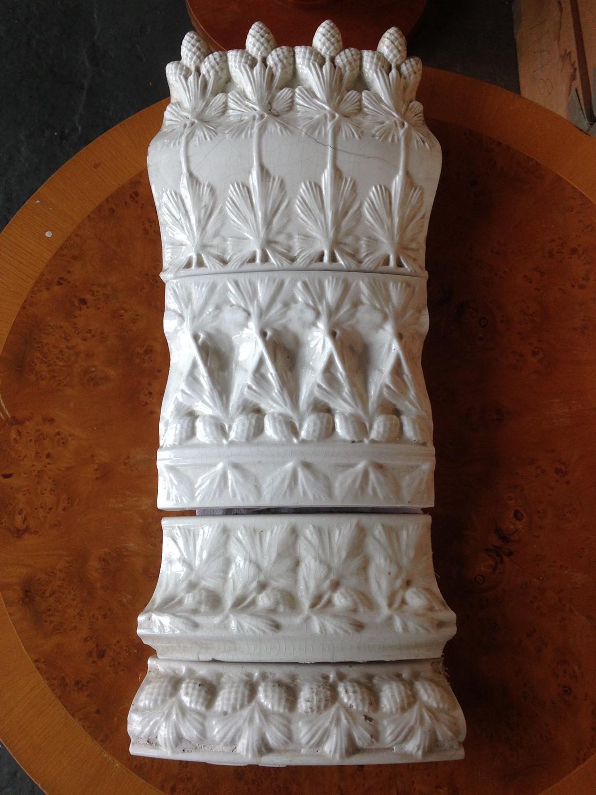 Modellierte Kacheln der Porzellanmanufaktur Rörstrand von Ferdinand Boberg