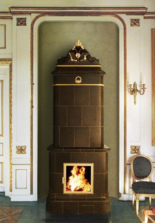 """Replika Vierkantofen """"Imperial Russian Collection"""" mit Doppeladler als Kronen-Abschluss"""