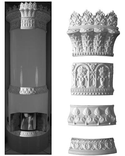 Modellierter Kachelofen der Porzellanmanufaktur Rörstrand von Ferdinand Boberg 01