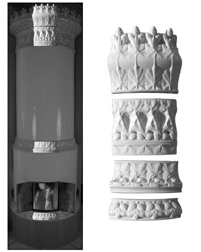 Modellierter Kachelofen der Porzellanmanufaktur Rörstrand von Ferdinand Boberg 02