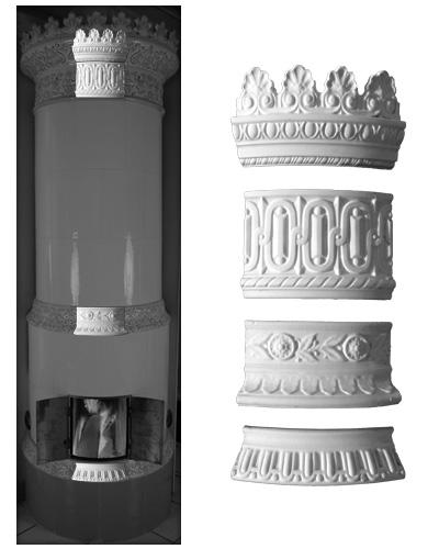 Modellierter Kachelofen der Porzellanmanufaktur Rörstrand von Ferdinand Boberg 03