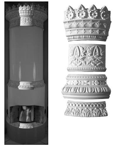 Modellierter Kachelofen der Porzellanmanufaktur Rörstrand von Ferdinand Boberg 04