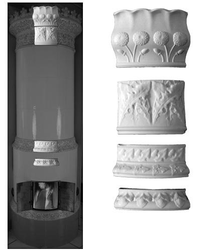 Modellierter Kachelofen der Porzellanmanufaktur Rörstrand von Ferdinand Boberg 05