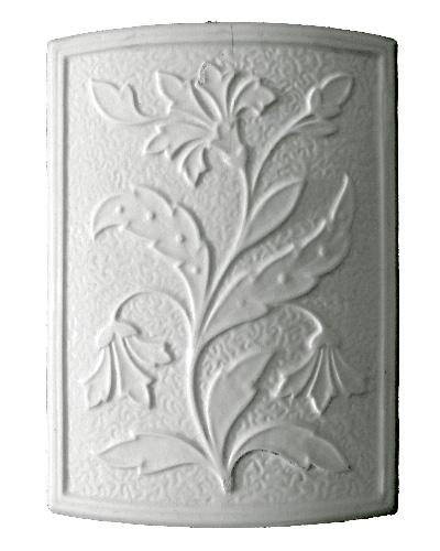 Modellierter Kachelofen der Porzellanmanufaktur Rörstrand von Ferdinand Boberg Kachel 01