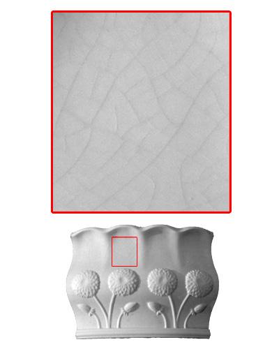 Modellierter Kachelofen der Porzellanmanufaktur Rörstrand von Ferdinand Boberg Krakelee
