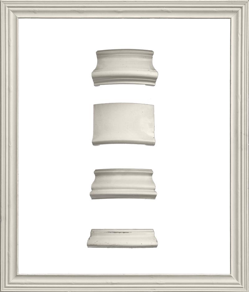 Antiker glatter Kacheloefen (zerlegt) 1